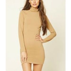 Long Sleeve Dress with Mock Neck